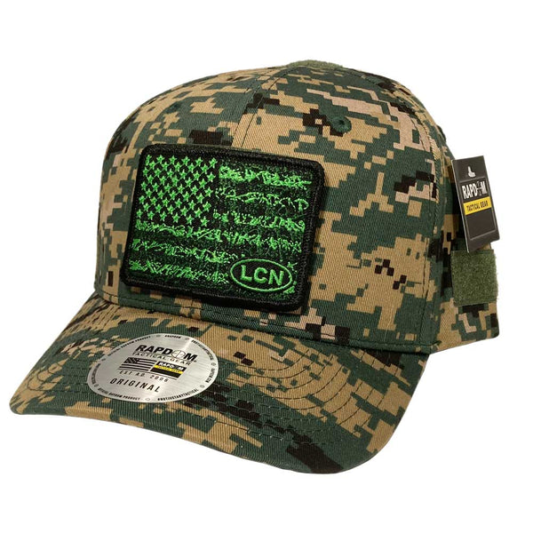 Tactical LCN Hat w/ Patches - Curved Bill