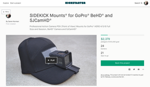SIDEKICK Mounts LIVE on KickStarter NOW!