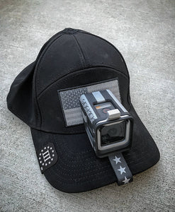 Exclusive PRE-ORDER Silver/Black US Flag SIDEKICK GoPro®HERO and HERO5 Session POV Cap Mount