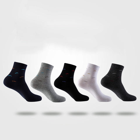 ~Wave Patterned Cotton Socks~ 5 colors ~ 5 pairs