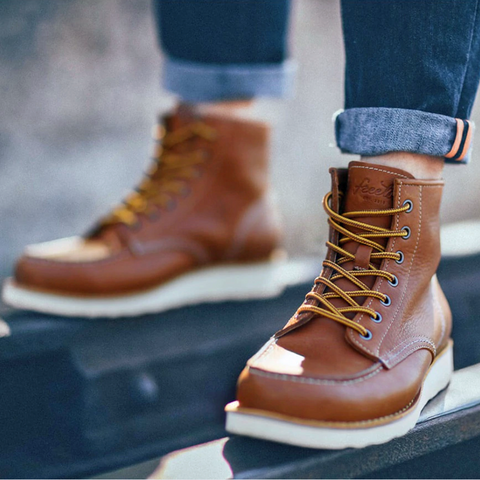 Outdoor Leather Boots <br>  · Non-slip <br>  ·2 leather colors