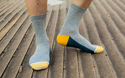 Formal dress cotton socks <br> · 5 colors <br> · 5 pairs ·
