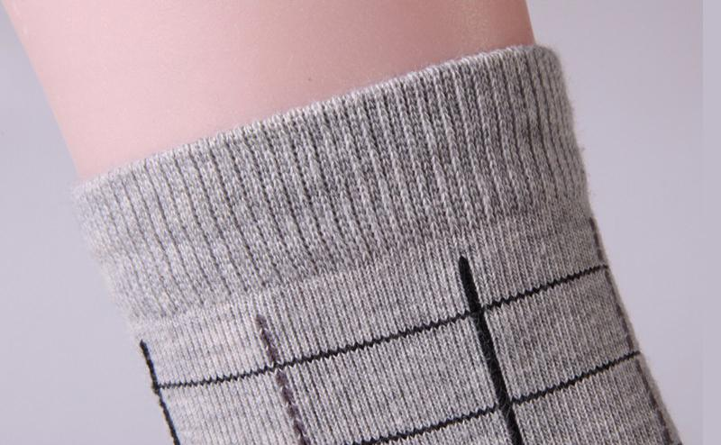 »Grid Patterned Backup Socks« <br> 5 Colors <br> · 10 Pairs ·