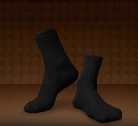 Soft antibacterial cotton socks <br> Solid color <br> · 6 pairs ·