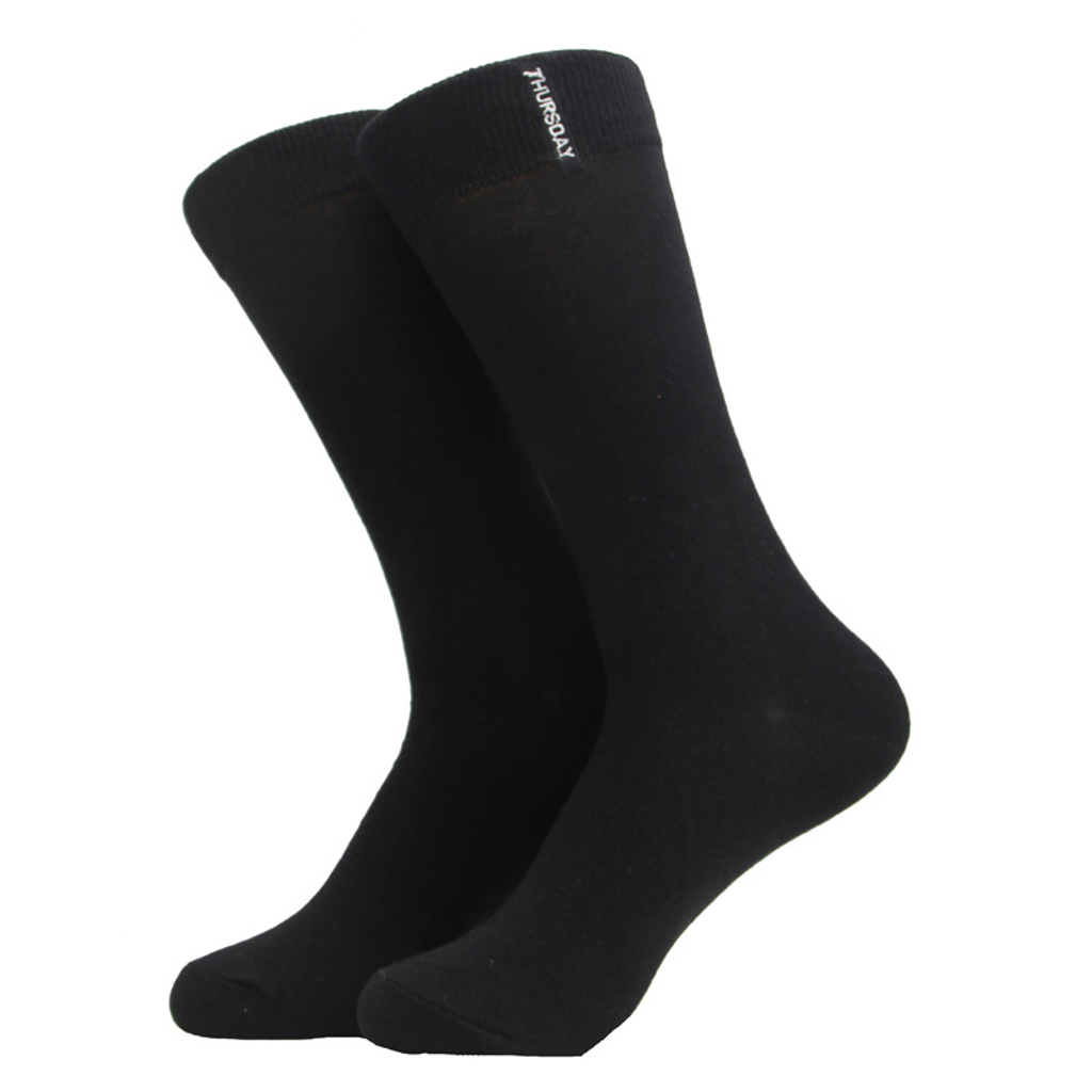 Bright Thursday <br> Black cotton socks <br> · One pair ·