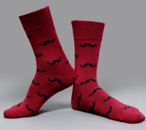 Image of »Hercules Poirot Mustache« <br> Cotton socks <br> · One pair ·