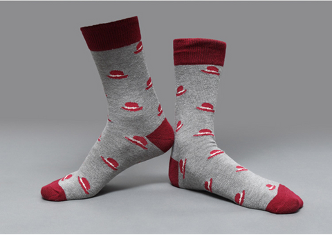 Image of »Hercules Poirot Hat« <br> Cotton socks <br> · One pair ·