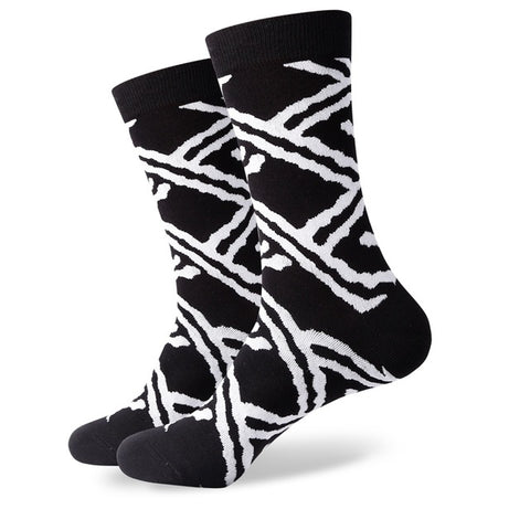 Image of Colorful pattern novelty socks <br> · One pair ·