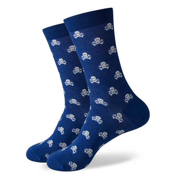 Colorful pattern novelty socks  · Two color variants <br> · One pair ·