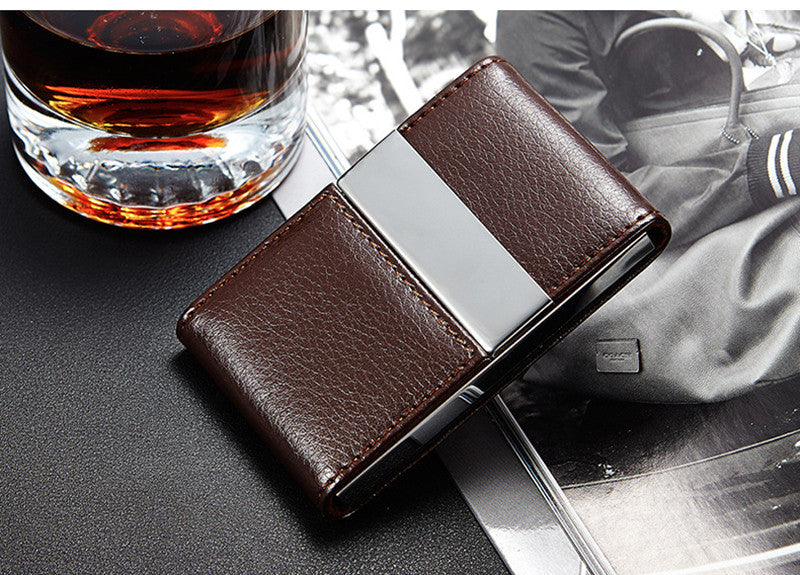 Credit & Visit Card Holder · Metal Wallet PU Leather
