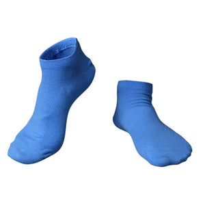 Ankle short cotton socks for spring summer <br>  Blue  <br> · 5 pairs ·