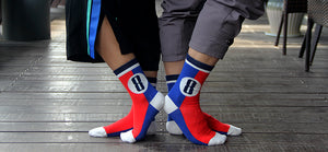 Sailing style combed cotton socks  <br>· Two sizes ·<br> 5 pairs