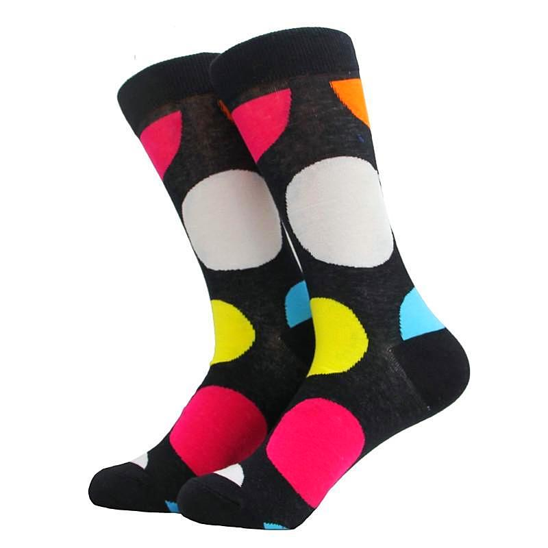 Novelty big dots cotton socks 