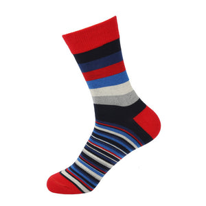 Striped cotton socks <br> 5 color variants <br> · 5 pairs ·