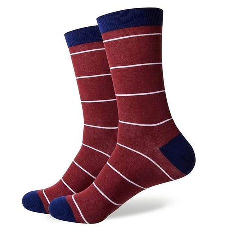 Striped three-tones cotton socks 
