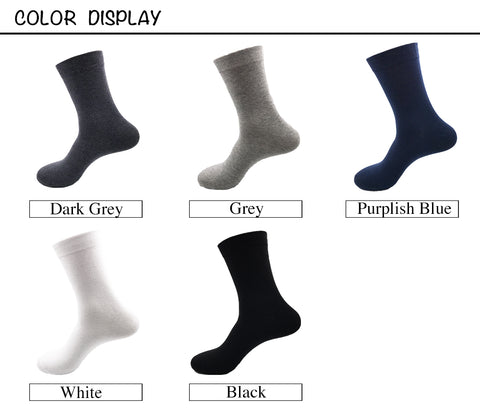 Large size business socks<br> 5 colors <br> · 5 pairs ·