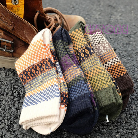Rabbit Wool Blend Warm Winter Socks <br> · 4 pairs