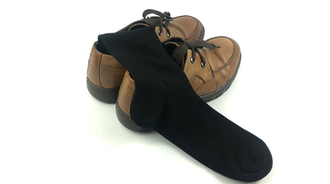 Image of Bamboo anti-bacterial socks <br> Black <br> · 6 pairs ·