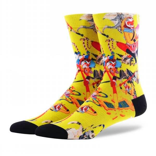 Printed compression cotton socks  Abstract artistic pattern   · One pair ·