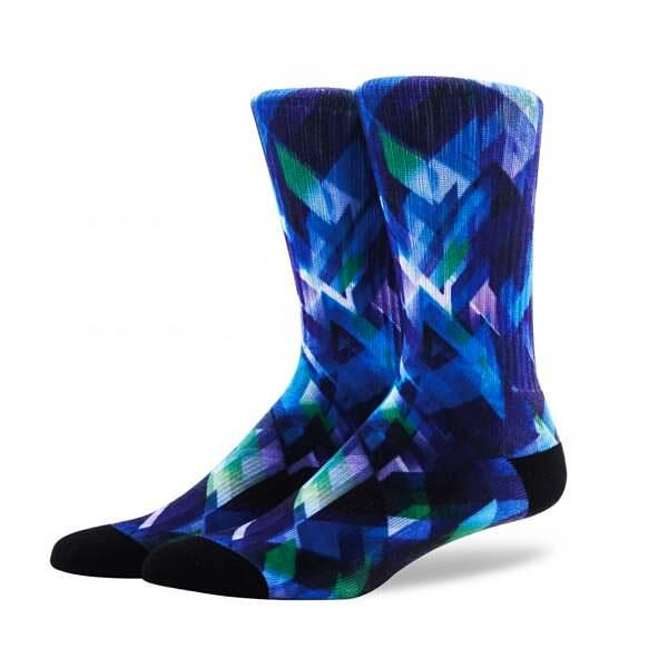 Printed Compression Cotton Socks <br> Abstract artistic pattern <br> One pair