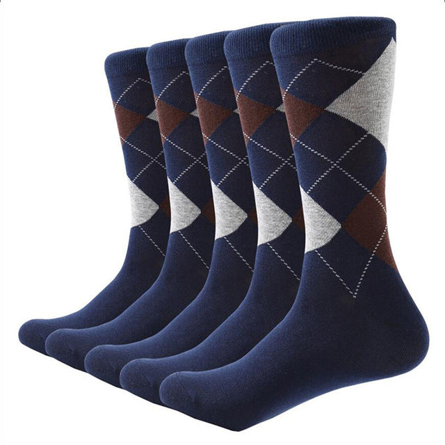 Argyle pattern cotton socks 