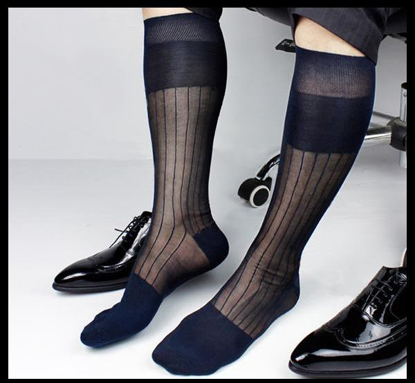 Silky gentlemen knee-high socks
