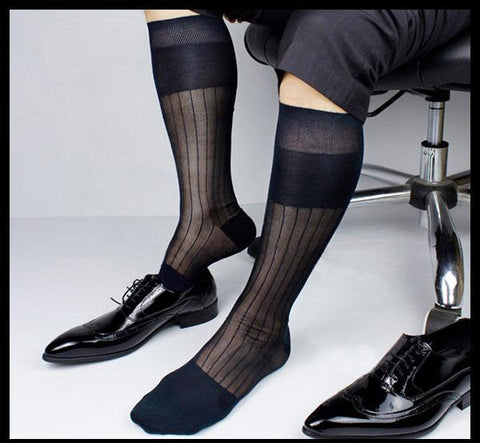 Image of Silky gentlemen knee-high socks