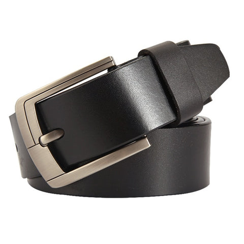 Men's Genuine Leather Belt <br> ·  Simple engraved buckle <br> 2 colors