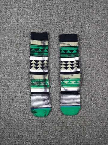Image of Winter Pattern Warm Cotton Socks <br> · One pair