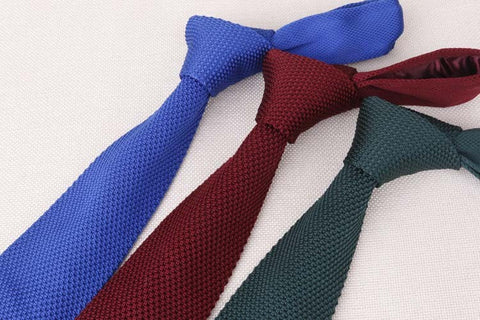 Image of Men's Suit Knitted Necktie <br> 14 color variants