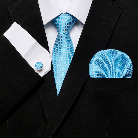 Necktie, cufflinks & pocket square set <br> Gift box packing