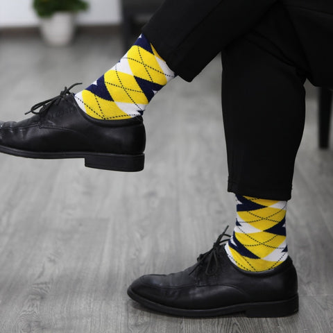 Image of Colorful Argyle Socks <br> One pair