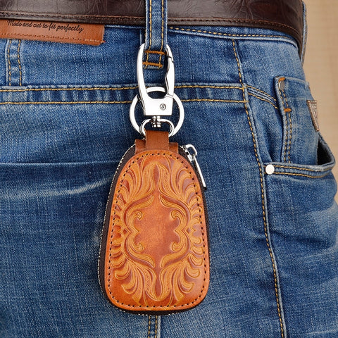Vintage Leather Key-holder <br> · 4 colors