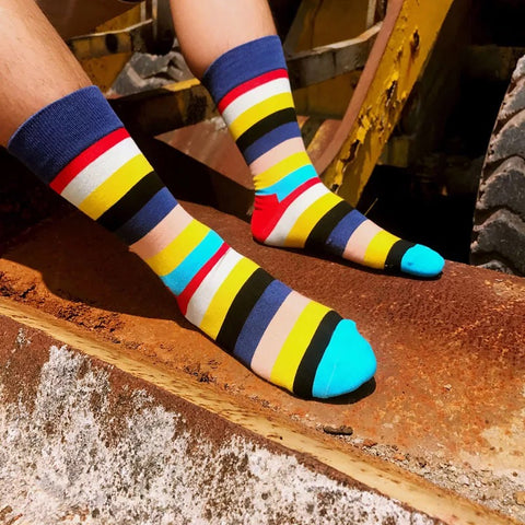 Colorful Fancy Socks · Various patterns · 10 pairs value pack