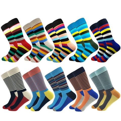 Image of Colorful Fancy Socks · Various patterns · 10 pairs value pack