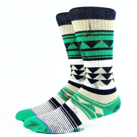 Winter Pattern Warm Cotton Socks <br> · One pair