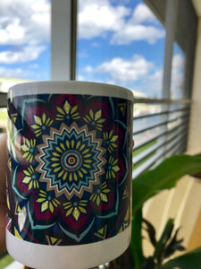 """Stained Glass"" Mandala Coffee Mug"