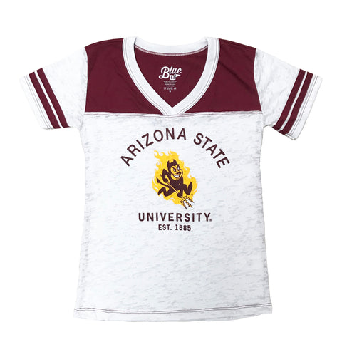 Arizona State University Girls Youth Tee Shirt, Distressed