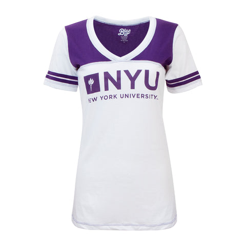 New York University V-Neck Tee
