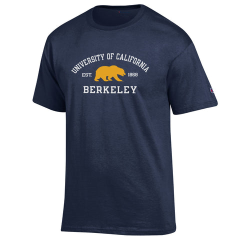 University of California Berkeley Tee Shirt, BEAR Navy