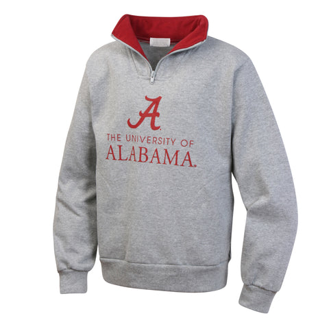 University of Alabama Youth Boys Zip Pullover Sweatshirt