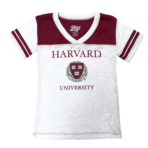 Harvard University Girls Youth Tee Shirt, Distressed