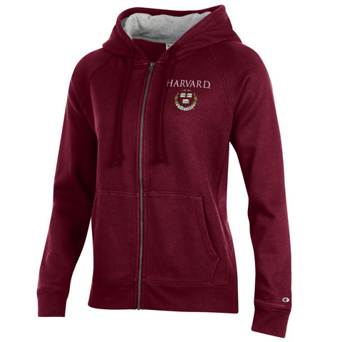 Harvard University Veritas Seal Zip Hoodie