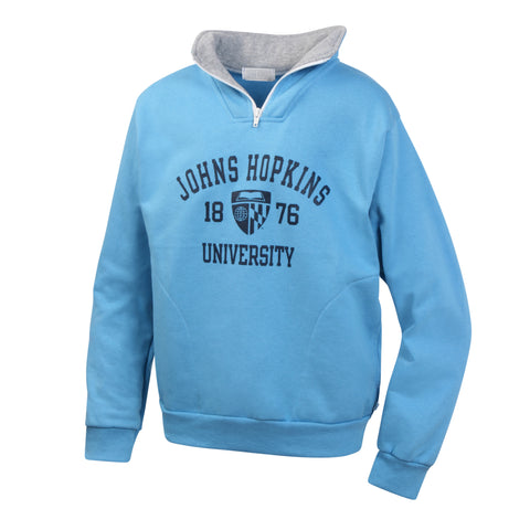 Johns Hopkins University Boys Youth Zip Pullover Sweatshirt
