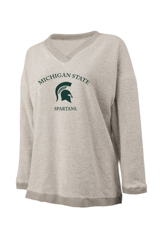 Michigan State University Spartans V Neck Sweater
