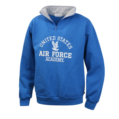 US Air Force Academy Boys Youth Zip Pullover Sweatshirt