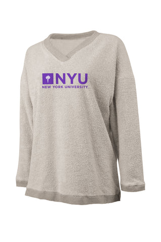 New York University V Neck Woolly Threads Sweater