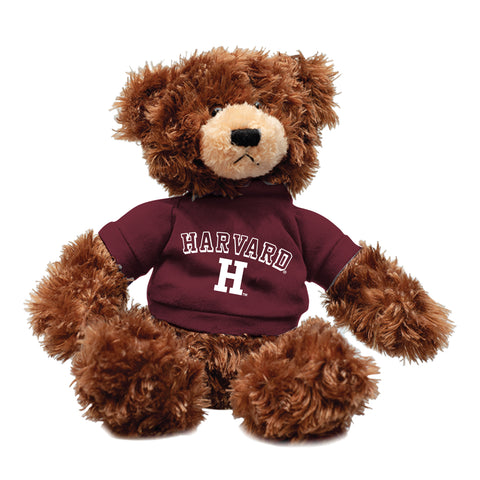 "Harvard University Brandon Bear 12"" Plush, Chocolate"