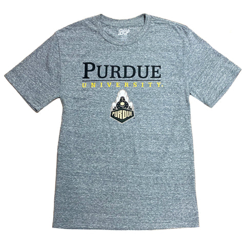 Purdue University Boilermaker Tee Shirt, Heather Grey