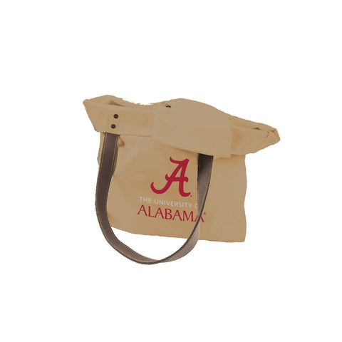 University of Alabama Leather Handle Canvas Tote